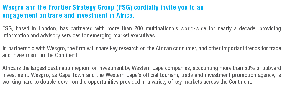 Wesgro and the Frontier Strategy Group